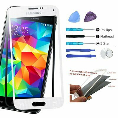 Tools Kit Front Outer Screen Touch Glass Replacement Lens For Samsung Galaxy S5