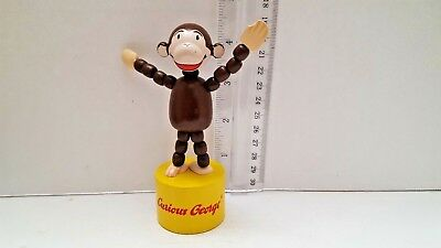CURIOUS GEORGE Wooden  PUSH-UP Press Action PUPPET TOY Schylling 3+