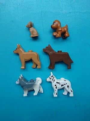 Lego Animal Land Lot of 6 Minifigures Dogs Husky Shepherd Chihuahua More!