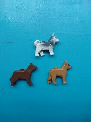 Lego Animal Land Lot of 3 Minifigures Dogs Husky and German Shepherd!