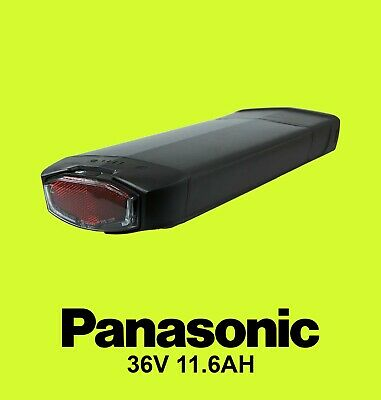 Panasonic 36v11.6ah Rear Rack Ebike Electric Bike Lithium Ion Battery Rack INC