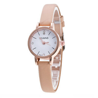Ladies Womens Fashion Leather Thin Strap Casual Watches Quartz Analog Wristwatch