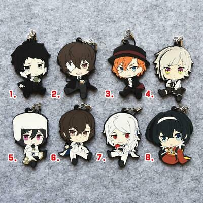 Bungo Stray Dogs Dead Apple Film Rubber Strap Keychain Charm Sit Ver