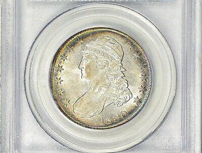 "1830 Capped Bust Half Dollar AU-58 PCGS & CAC ""Great Look & Luster"""