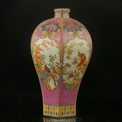Chinese Enamel Porcelain Hand Painted Vase Made During The Kangxi Period