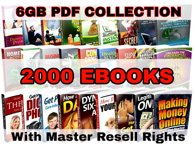 2000 Ebooks Collection with Master Resell Rights PDF + Free Shipping 6GB