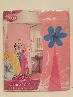 New DISNEY PRINCESS FABRIC SHOWER CURTAIN 70 X 72 Belle Cinderella Aurora