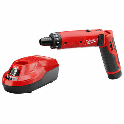 Milwaukee 2101-20 Cordless M4 Lithium-Ion 1/4 in.Hex Screwdriver 2.0 Ah RedLithi