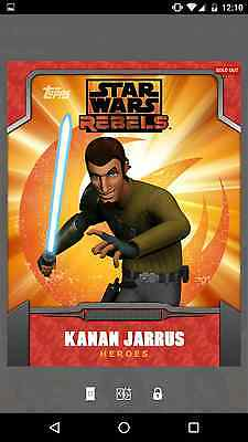 Topps Star Wars Card Trader - Kanan Jarrus - Rebels - Heroes - Orange  Sold Out