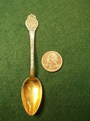 "#42, Rare Old Vtg Sterling Silver Souvenir Spoon ""Stuttgart, Arkansas"" Engraved"
