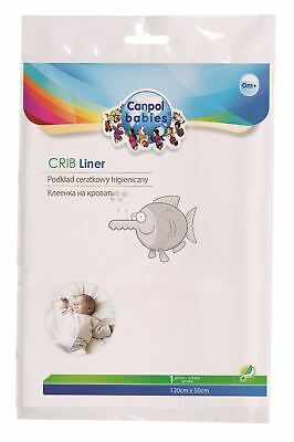 Waterproof Cot Sheet Canpol Protective Mattress Protector Soft Cover