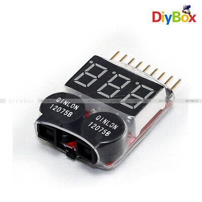 1-8S 2 in1 RC Li-ion Lipo Battery Low Voltage Meter Tester Buzzer Alarm PM