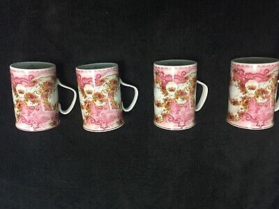 🌷 Set of 4 Royal Albert Old Country Roses Dusky Pink Lace Mug Mugs 🌷