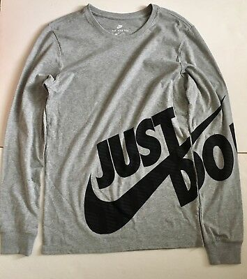 77570c39ba0ab9 MEN S NIKE SPORTWEAR Long Sleeve T-Shirt NWT Gray Size Small ...