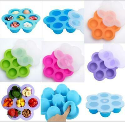 Silicone Baby Snack Food Supplement Bowls W/ Cover Toddler Kids Happy Home Tray