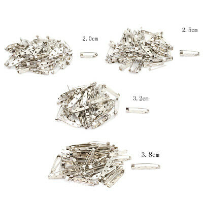 New 50pcs/Bag Safety Brooch Catch Bar Locking Pin Clasp Fastener Craft 20-38mmHT
