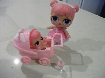 Plastic Doll Pram to suit Lol Lil Sister Sized Dolls with Soft Liner Pad (2)
