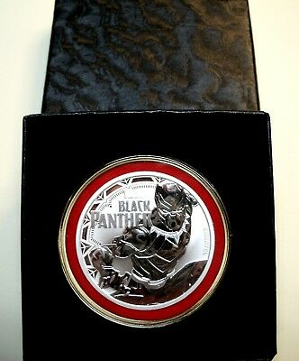 BUY HERE! Perth Mint-TUVALU 2018 *Black Panther* 1oz 9999 Fn Silver$1Coin+Extras