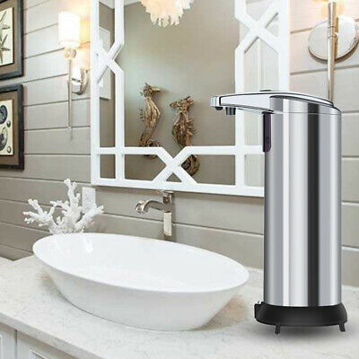 240ML Stainless Steel Hand Automatic IR Sensor Touchless Soap Liquid Dispenser N