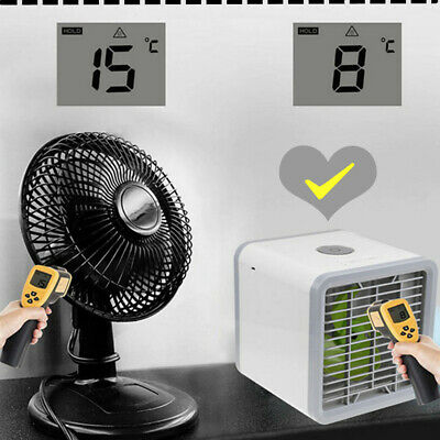 Portable Mini Cooler Fan Air Conditioner 3 in1 Personal Desktop Travel Office
