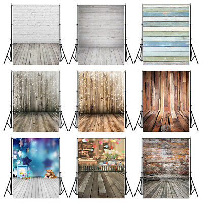 Photo Backdrops Wooden Floor Photography Backgrounds For Newborn Kid Decor K1Y1