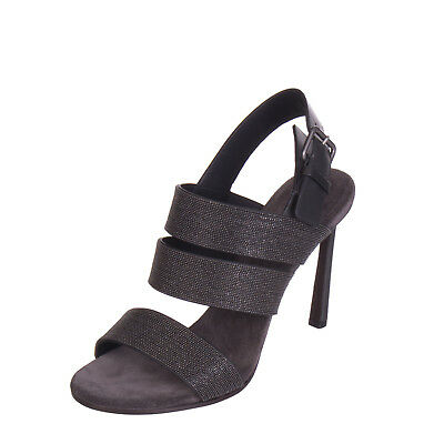 BRUNELLO CUCINELLI Leather Slingback Sandals Size 39 UK 6 Made in Italy