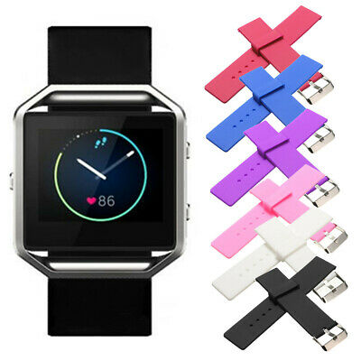 Silicone Gel Band Strap Bracelet Wristband Replacement For FITBIT BLAZE Watch AU