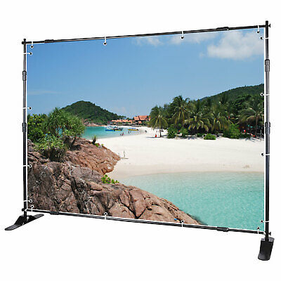 Banner Stand Display Telescopic Backdrop Trade Show Advertising Printed 8' x 8'