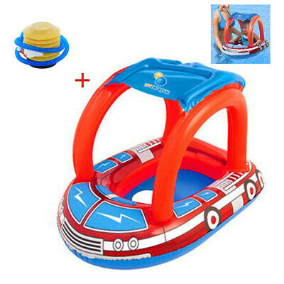 Children Inflatable Kids Baby Toddler Swimming Pool Swim Seat Float Boat Car UK