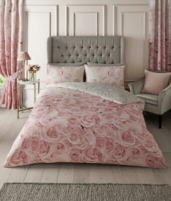 BELLEROSE PINK DUVET COVER Quilt Bedding Set + Pillow Case Poly cotton All Sizes
