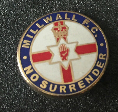 Rare Millwall No Surrender  Enamel Pin Badge
