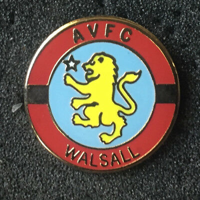 Rare Aston Villa Supporters Walsall Area Enamel Pin Badge