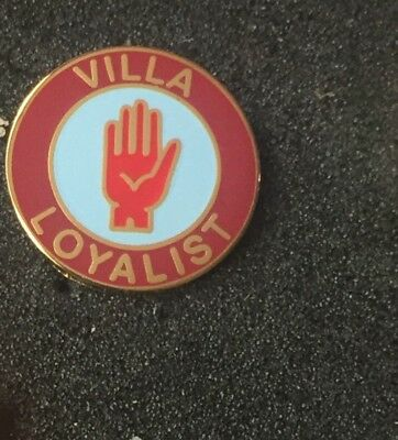 Rare Aston Villa Loyalist Enamel Pin Badge