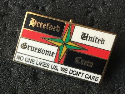 Rare Hereford United Gruesome Crew Hooligan Firm Enamel Pin Badge
