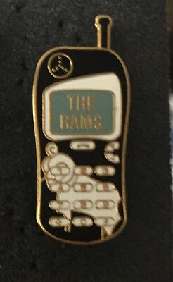 Rare Derby County Mobile Phone Shaped Enamel Pin Badge