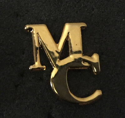 Rare Manchester City Gold Mc Cutout Letters Pin Badge