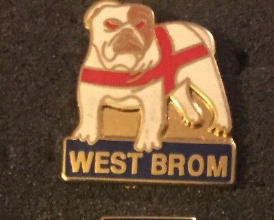 Rare West Brom St George Bulldog Enamel Pin Badge
