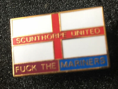 Rare Scunthorpe United Anti Grimsby  Enamel Pin Badge