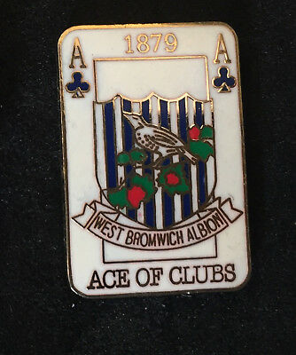 Rare West Brom Ace Of Clubs Enamel Pin Badge