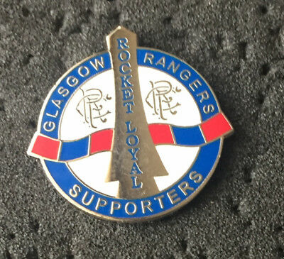 Rare Rangers Supporters Club Rocket Loyal Enamel Pin Badge