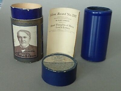 Edison Blue Amberol Cylinder Record - Sweet Thoughts Of Home, Contralto