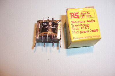 Audio transformer 2mW 600Ohm to 600Ohm New old stock RS Components part