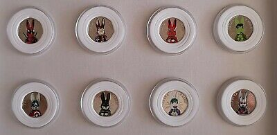 Peter Rabbit Super Hero 50p Coins In Capsules With Protective Edging Foam x 8