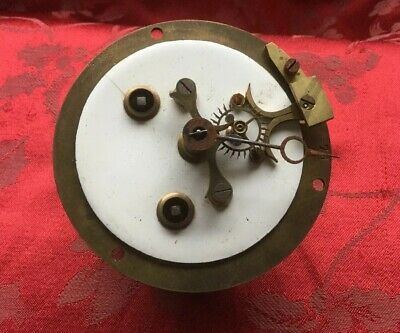 Outside Count Wheel  Antique French Clock Movement Visible Brocot Escapement