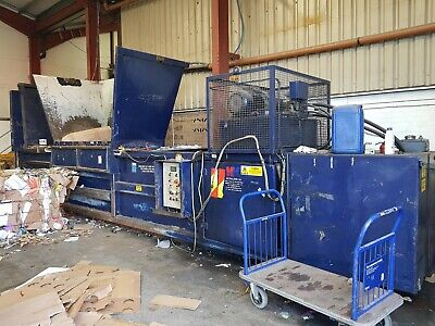 Baler Machine for cardboard, plastic recycling