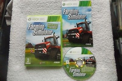 FARMING SIMULATOR XBOX 360 V.G.C. FAST POST ( simulation game & complete )