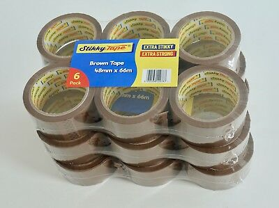 DISP. TODAY 18 24 36 72 rolls CLEAR / BROWN parcel packing TAPES 48mm x 66m