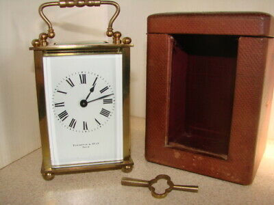 Carriage clock, original case and key included