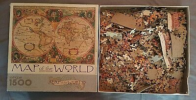 Hallmark Springbok 1500 Piece Map Of The World Puzzle New Sealed