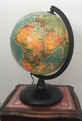 Vintage Illuminated Globe Orion 25 Italian Working Tested 1980s 1990s Light Lamp